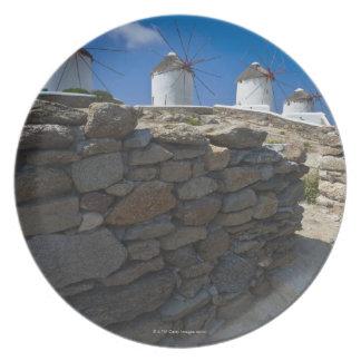 Greece, Cyclades Islands, Mykonos, Stone wall Plate