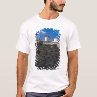Greece, Cyclades Islands, Mykonos, Stone wall T-Shirt