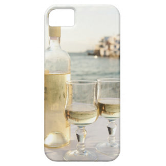 Greece, Cyclades Islands, Mykonos, Wine on table iPhone 5 Covers