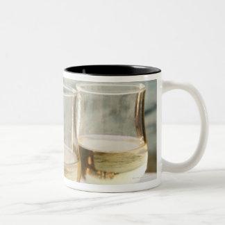 Greece, Cyclades Islands, Mykonos, Wine on table Mug