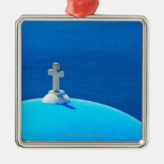 Greece, Cyclades Islands, Santorini, Oia, Church Christmas Ornament