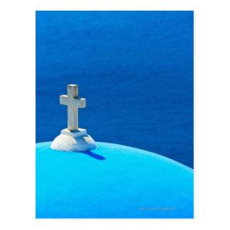 Greece, Cyclades Islands, Santorini, Oia, Church Postcard