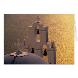 Greece, Cyclades Islands, Santorini, Thira, Greeting Card