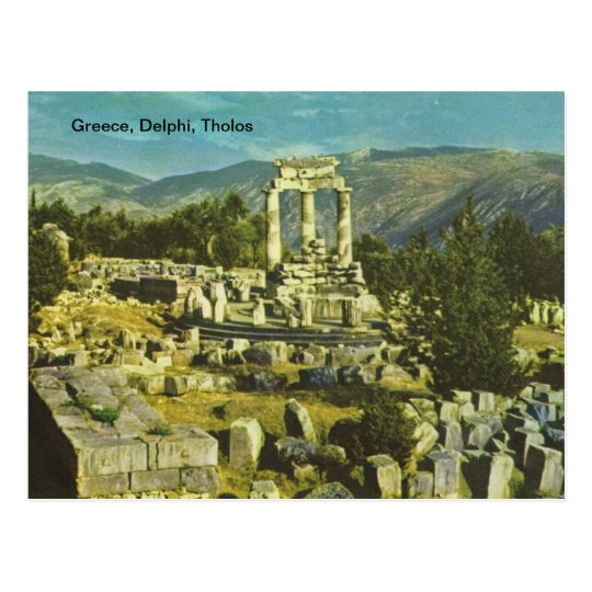 Greece, Delphi, Tholos Postcard