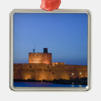 GREECE, Dodecanese Islands, RHODES, Rhodes Town: Silver-Colored Square Decoration