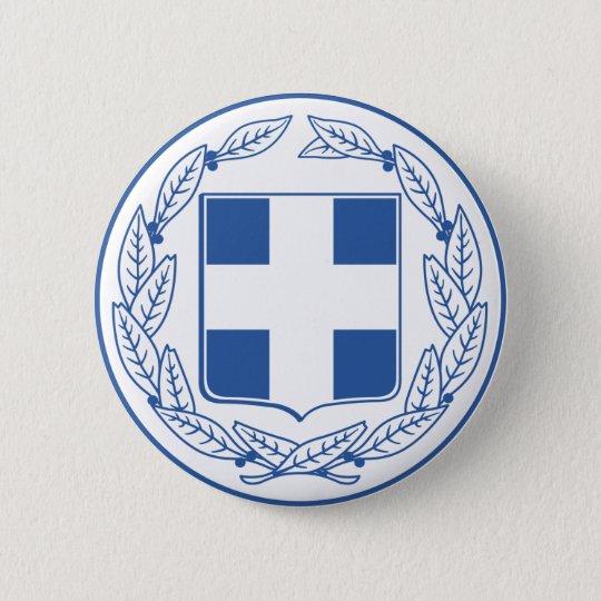 greece emblem 6 cm round badge