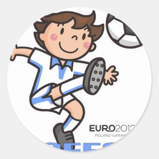 Greece - Euro 2012 Round Sticker