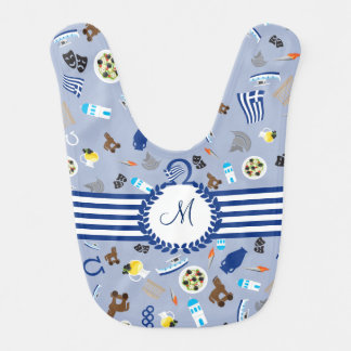 Greece: famous items of the country bib