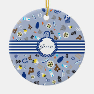 Greece: famous items of the country christmas ornament