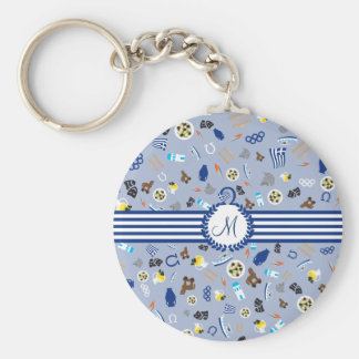 Greece: famous items of the country key ring