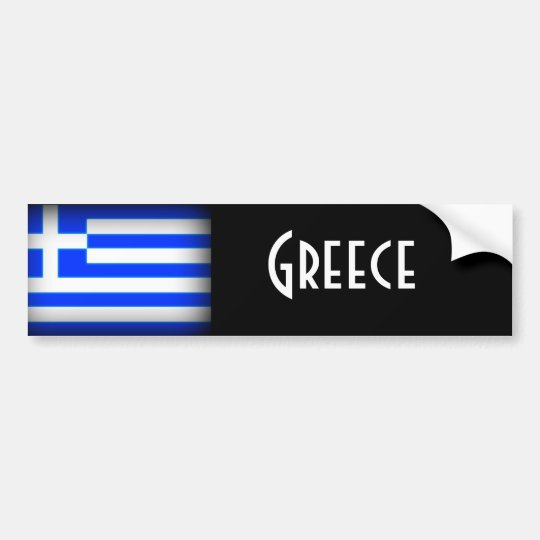 Greece Flag Dark Bumper Sticker