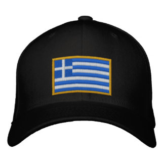 Greece Flag Embroidered Hat