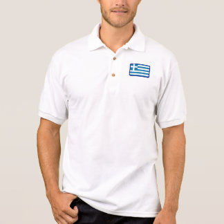 Greece flag golf polo