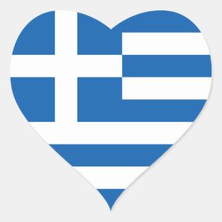 Greece Flag GR Heart Sticker
