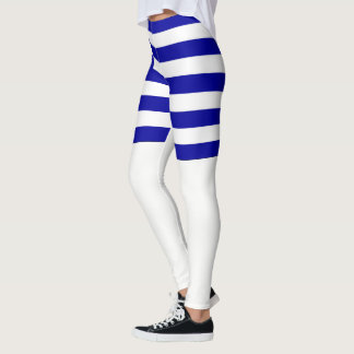 Greece flag leggings