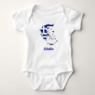 GREECE FLAG MAP BABY BODYSUIT