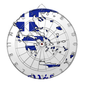 GREECE FLAG MAP DARTBOARD