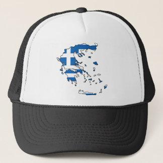 Greece Flag Map GR Trucker Hat
