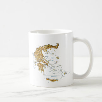Greece Flag ~ Map Mug