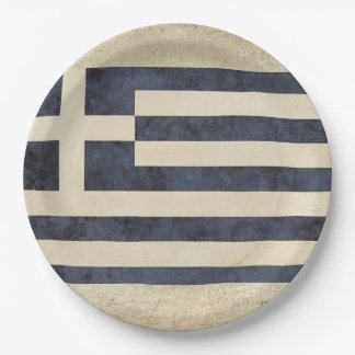 Greece Flag Paper Plates