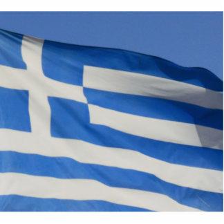 Greece Flag Standing Photo Sculpture