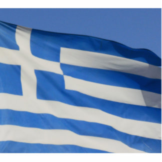 Greece Flag Acrylic Cut Outs