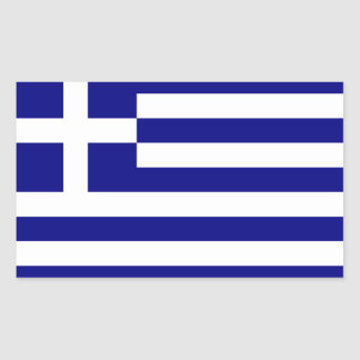 Greece Flag Rectangular Sticker