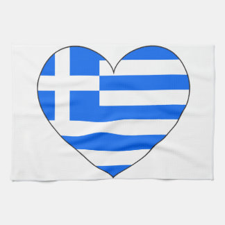 Greece Flag Simple Tea Towel
