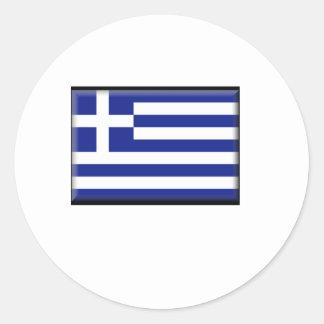 Greece Flag Round Stickers