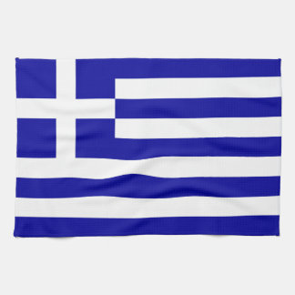 Greece Flag Tea Towel