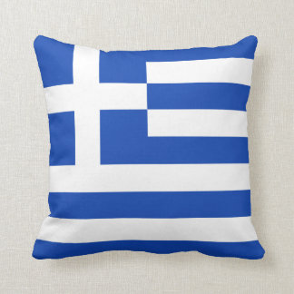 Greece Flag x Flag Pillow