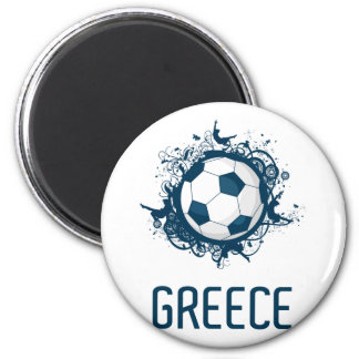 Greece Football 6 Cm Round Magnet