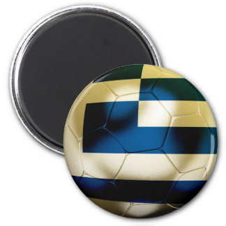 Greece Football 6 Cm Round Magnet