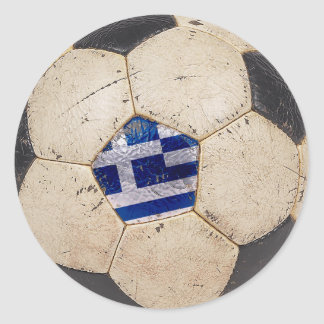 Greece Football Classic Round Sticker