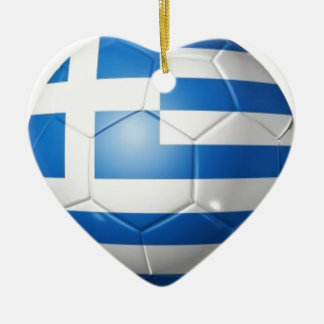 GREECE FOOTBALL FLAG CHRISTMAS ORNAMENT