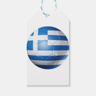 GREECE FOOTBALL FLAG GIFT TAGS