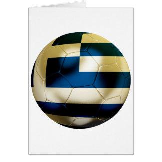 Greece Football Greeting Card