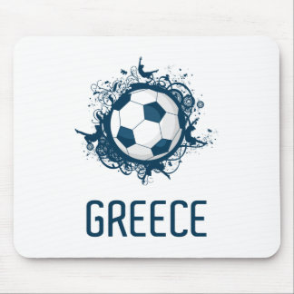 Greece Football Mouse Pad