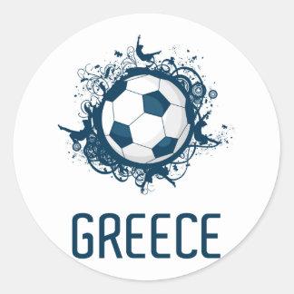 Greece Football Round Sticker