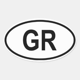 """Greece """"GR"""" Oval Sticker"""