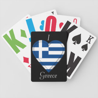 Greece Greek flag Bicycle Playing Cards