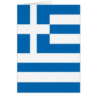 Greece Greek flag Greeting Card