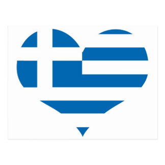 Greece Greek flag Postcard