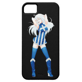 Greece Greek Manga Flag girl iPhone 5 Case