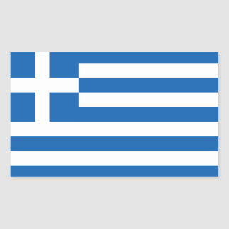 Greece – Greek National Flag Rectangular Sticker