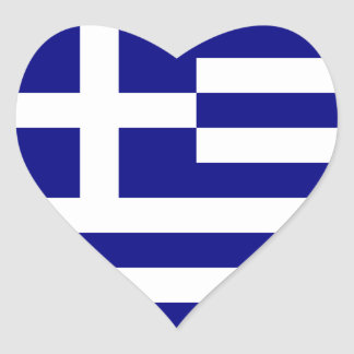 greece heart sticker
