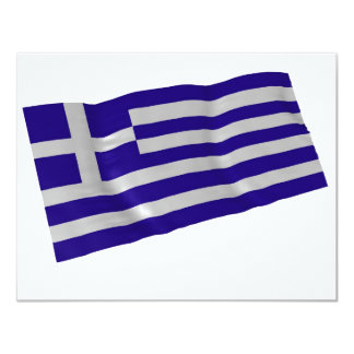 greece 11 cm x 14 cm invitation card