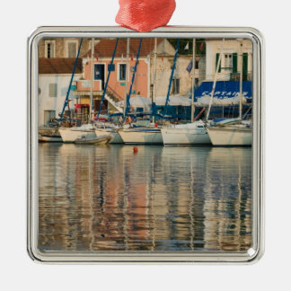 GREECE, Ionian Islands, KEFALONIA, Fiskardo: Silver-Colored Square Decoration