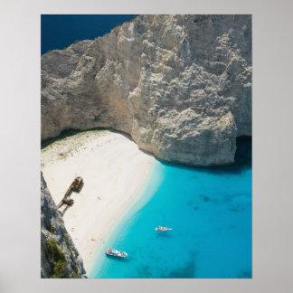 GREECE Ionian Islands ZAKYNTHOS SHIPWRECK Posters