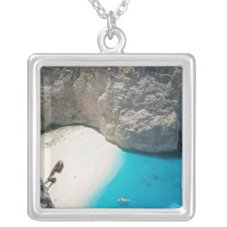 GREECE, Ionian Islands, ZAKYNTHOS, SHIPWRECK Silver Plated Necklace